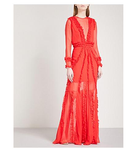 ALEXIS Janine silk maxi dress (Red