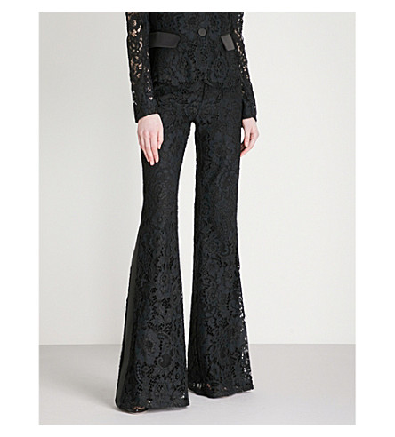 ALEXIS Kleir flared lace trousers (Midnight+lace