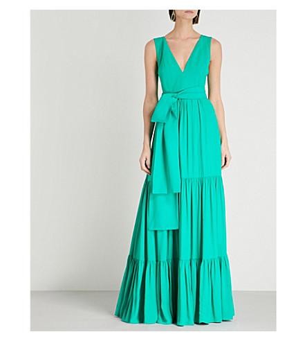 verde cuello maxi en Marni v ALEXIS vestido crepé con gqz8I6Fw