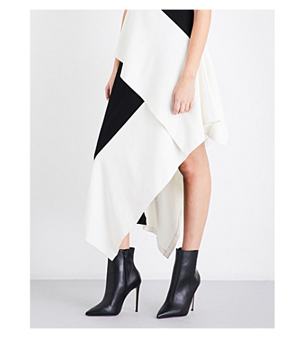 ROSETTA GETTY Asymmetric ponte jersey skirt (Black+ivory