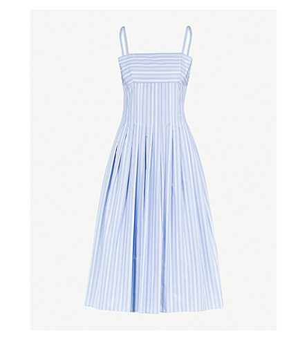 ROSETTA GETTY Striped woven dress (Blue