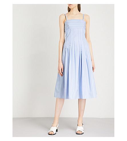 ROSETTA GETTY Striped woven dress (Blue
