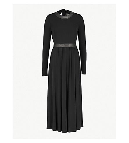 ROSETTA GETTY Backless crepe maxi dress (Black
