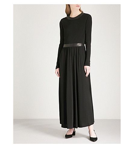 ROSETTA GETTY Backless crepe maxi dress (Black