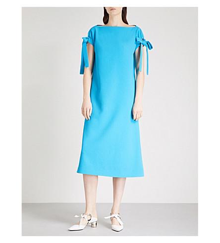 EMILIA WICKSTEAD Marlene crepe dress (Turquoise