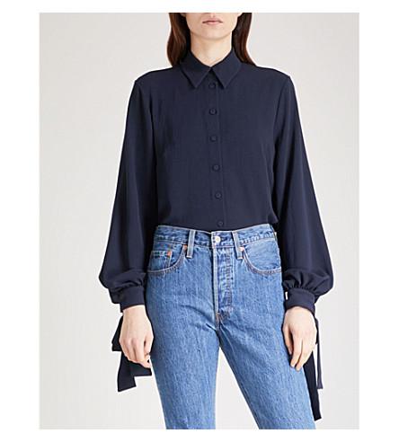 EMILIA WICKSTEAD Monica crepe shirt (Navy