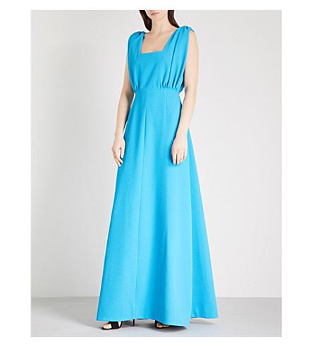 EMILIA WICKSTEAD Sacha crepe maxi dress (Turquoise