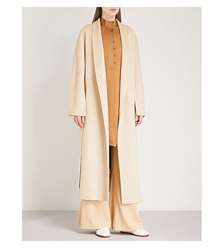 ARJE Dawn wool and cashmere-blend coat (White+gold