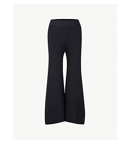 ARJE Cortina cashmere trousers (Antique+indigo