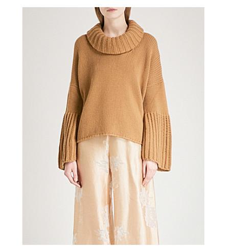 ARJE Courcheval cashmere turtleneck jumper (Camel