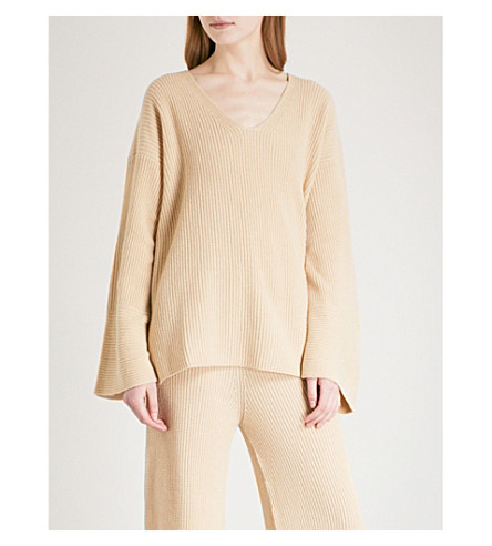 ARJE Cortina cashmere jumper (White+gold