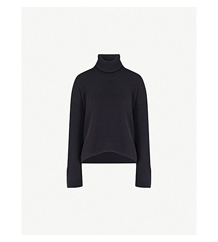 ARJE Cortina cashmere turtleneck jumper (Antique+indigo