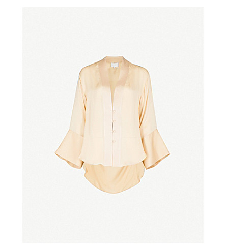ARJE Ode silk shirt (White+gold