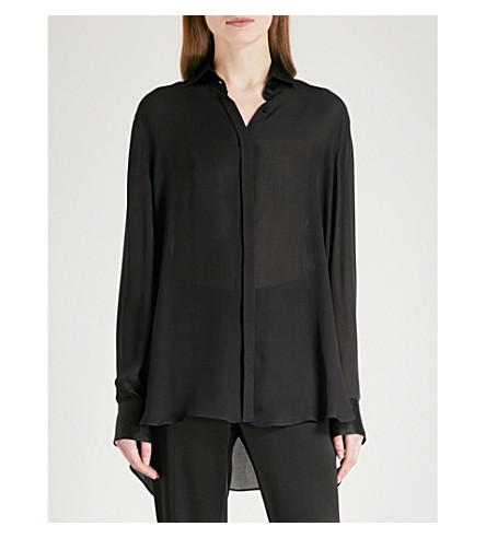 ARJE Yaz silk shirt (Black