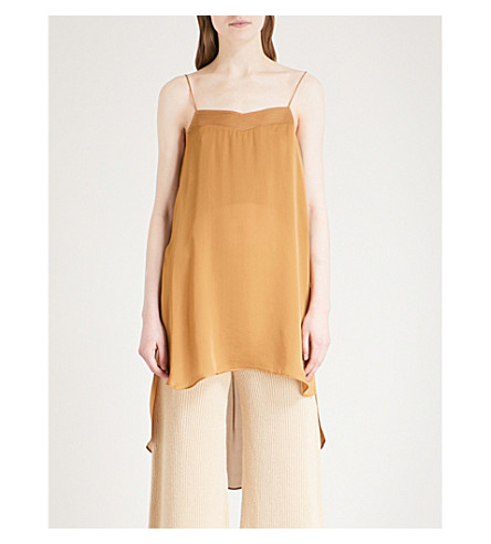 ARJE Koko Oriental silk camisole (Camel