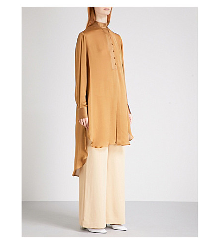 ARJE Lee silk shirt (Camel