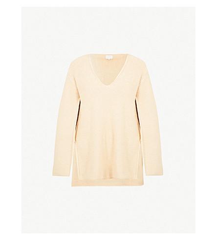 ARJE Patmos split-sleeve cotton-blend jumper (Parchment
