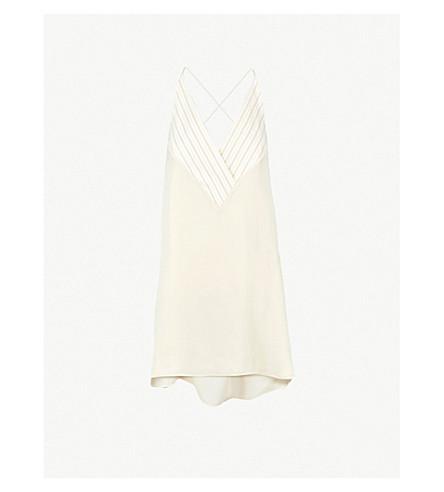 ARJE Jo cotton and silk-blend camisole (Parchment gold