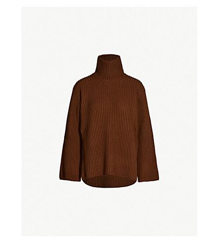 ARJE Mayka turtleneck wool, silk and cashmere-blend jumper (Chocolate