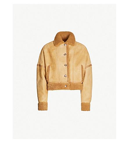ARJE Jupiter shearling-lined leather jacket (Dune