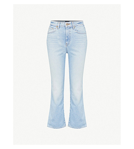 KHAITE Benny cropped flared mid-rise jeans (Austin