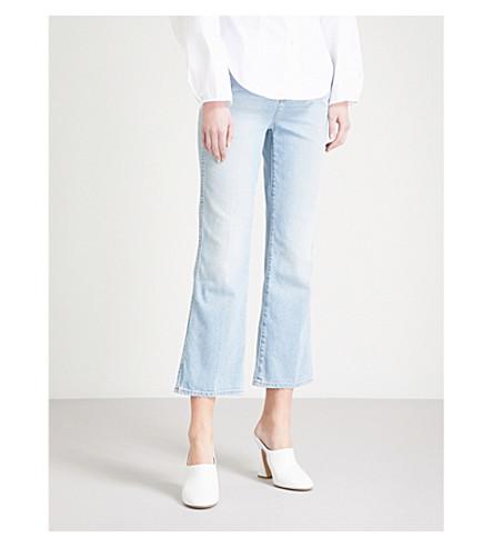 KHAITE Benny cropped flared mid-rise jeans (Austin