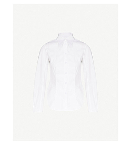 KHAITE Serena cotton shirt (White