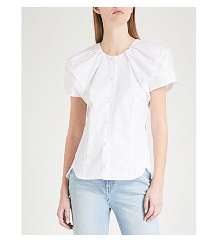 KHAITE Tanya cotton top (White