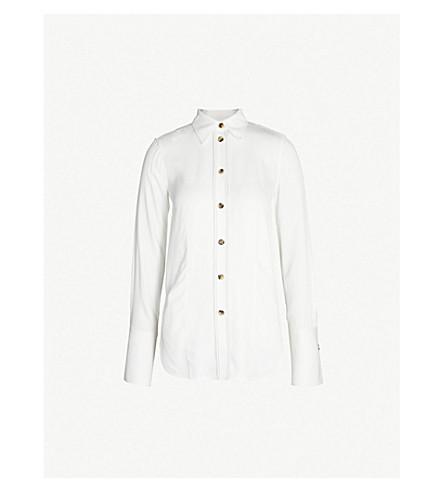 KHAITE Delia crepe shirt (Ivory