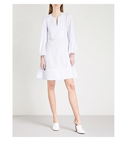 KHAITE Vanessa cotton mini dress (Light+blue