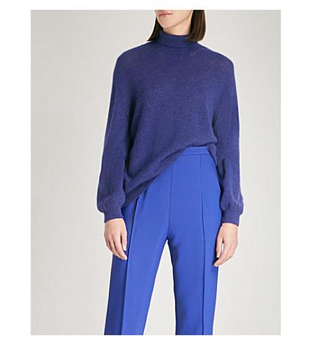 KHAITE Julie turtleneck cashmere jumper (Cobalt