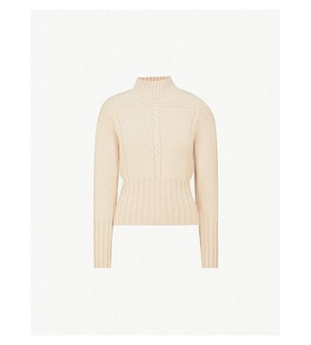KHAITE Maude cable-knit cashmere jumper (Butter