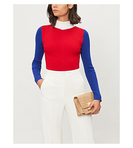 EMILIA WICKSTEAD Harry wool jumper (Red+blue