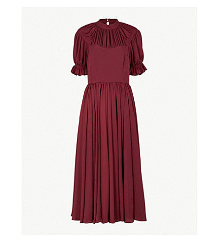 EMILIA WICKSTEAD Philly crepe dress (Burgendy