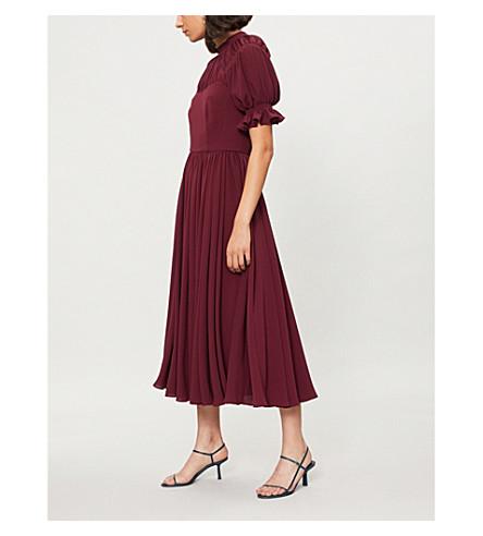EMILIA WICKSTEAD Philly crepe dress (Burgendy