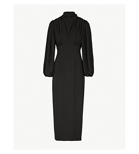EMILIA WICKSTEAD Niamh stretch-crepe dress (Black