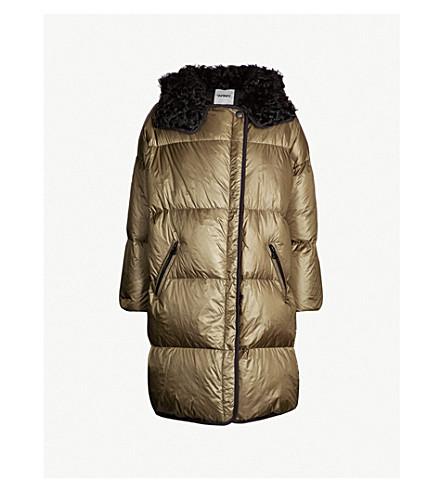 YVES SALOMON ARMY Shearling-lined shell-down puffer coat (Herbal tea noir