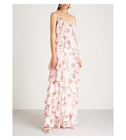 BORGO DE NOR Filipa printed crepe maxi dress (Blush