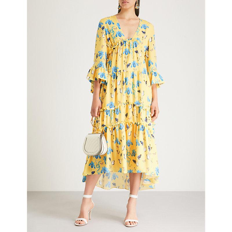 BORGO DE NOR Iris printed crepe midi dress