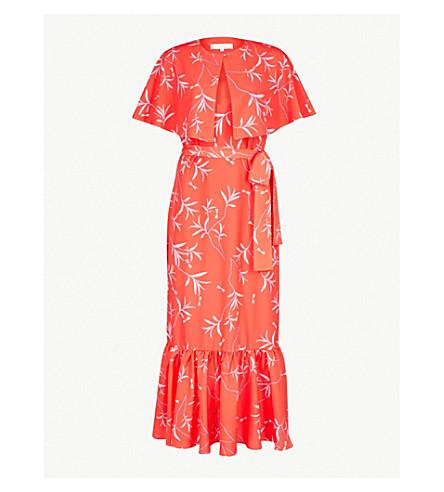 BORGO DE NOR Margarita crepe midi dress (Red