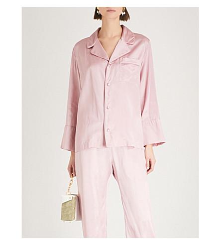 DEITAS Linda DEITAS shirt Pink silk silk Linda satin satin FwUxWr1qF6