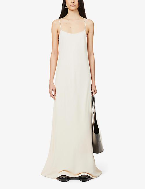 THE ROW 艾宾斯勺颈皱长连衣裙