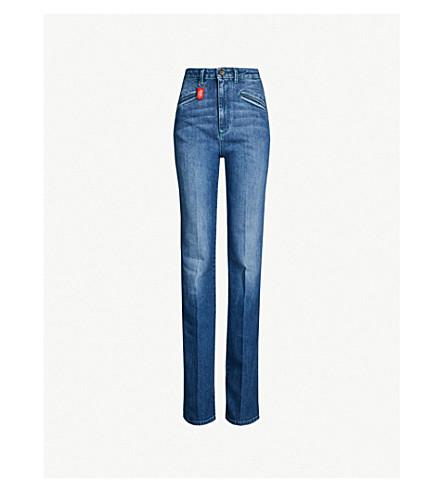 PHILOSOPHY DI LORENZO SERAFINI High-rise faded flared jeans (Blue