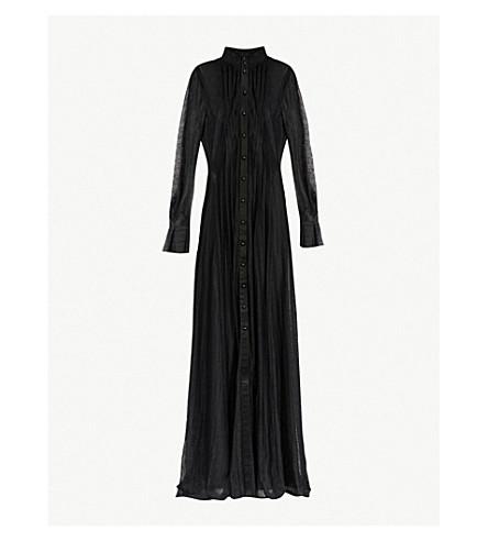 PHILOSOPHY DI LORENZO SERAFINI Satin-trim floral lace gown (Black