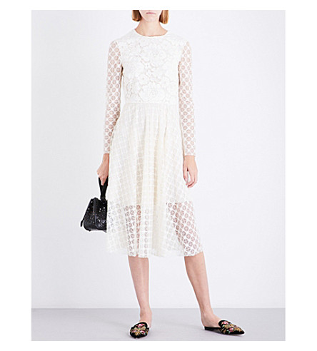 PHILOSOPHY DI LORENZO SERAFINI Fit-and-flare lace dress (Cream