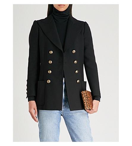 PHILOSOPHY DI LORENZO SERAFINI Double-breasted woven jacket (Black