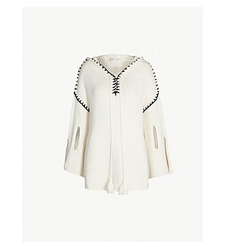 PHILOSOPHY DI LORENZO SERAFINI Contrast-stitched cotton-blend hoody (White