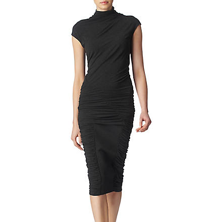 DONNA KARAN Ruched jersey dress (Charcoal