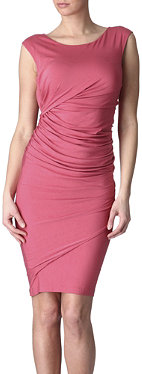 DONNA KARAN Ruched jersey dress