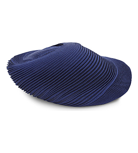 ISSEY MIYAKE Orbit pleated hat (Blue+black